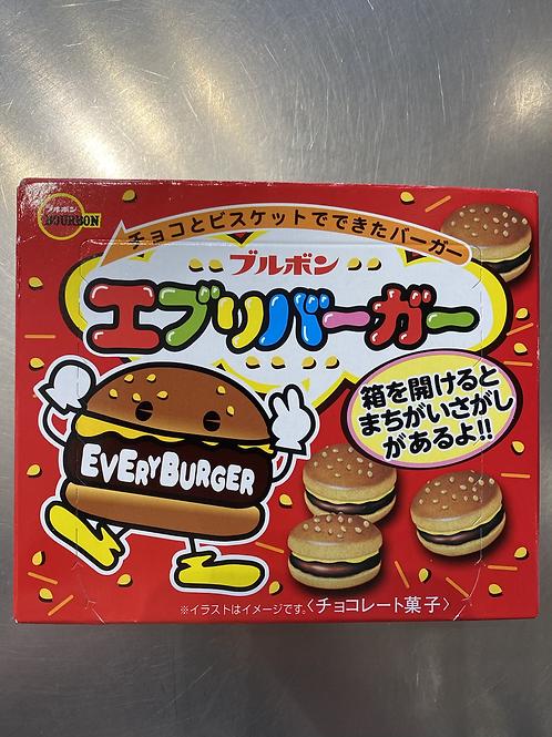 Bourbon Every Burger Chocolate Biscuits 66g日本原装汉堡巧克力饼干