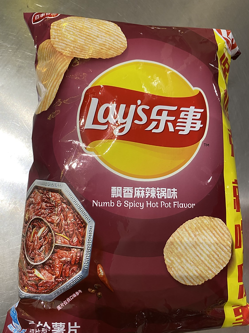 Lay's Numb & Spicy Hot Pot Flav 乐事飘香麻辣锅味