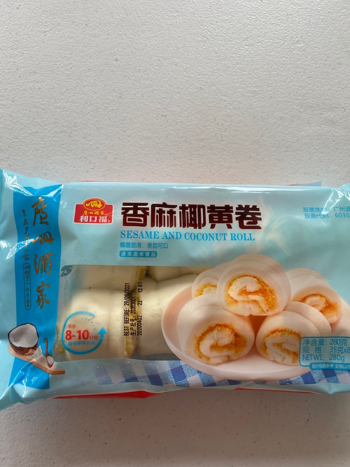 GZJJ Sesame and Coconut Roll 香麻椰黃卷