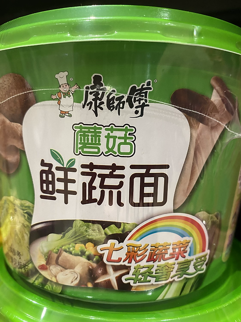 KSF Vegetable Instant Noodle Mushroom Flav 康师傅蘑菇鲜蔬面