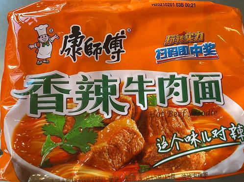 KSF Instant Noodles Spicy Artificial Beef Flav 5pks 康师傅经典5入香辣牛肉面