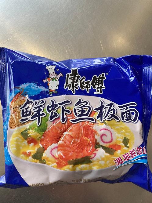 KSF Seafood Flav Noodles 康师傅鲜虾鱼板面