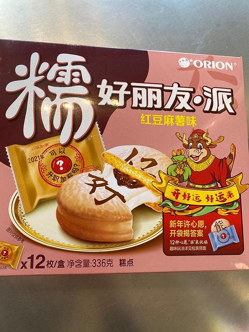 Orion Chocolate Mochi -Red Bean Flav 好丽友·派红豆麻薯味