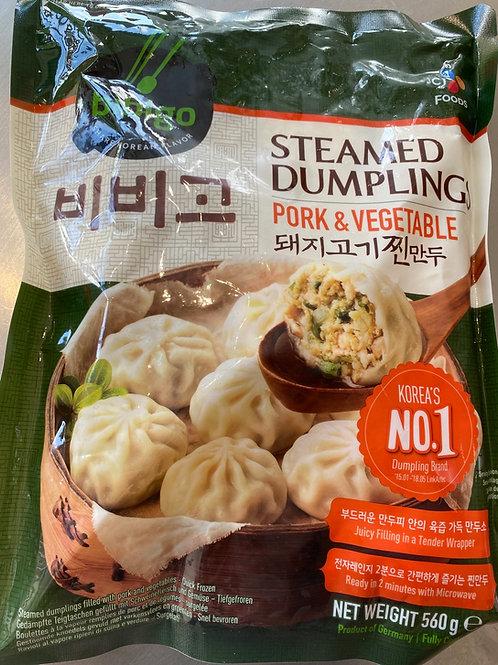 CJ Bibigo Steamed Dumpling Pork & Vegetable 560g