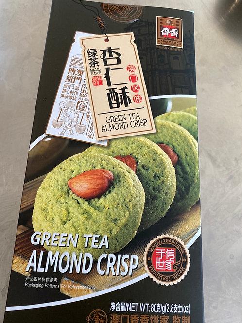 Green Tea Almond Crisp Cookies