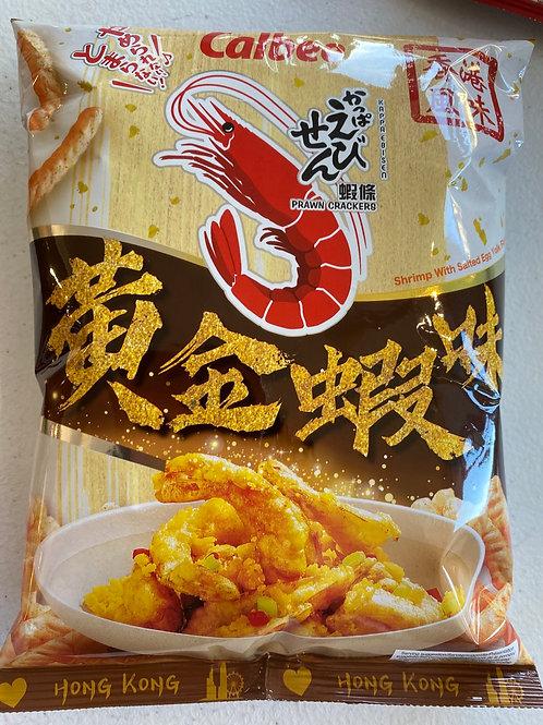 Calbee Prawn Cracker Salted Egg Yolk 卡乐B 黄金虾