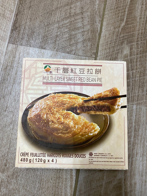 Taiwan Multi Layer Sweet Red Bean Pie 台湾千层红豆拉饼