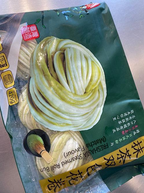 Freshasia Steamed Roll Bun Matcha Flav 抹茶双色花卷