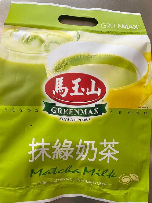 Greenmax Matcha Milk Tea 20gx16pks 马玉山抹绿奶茶