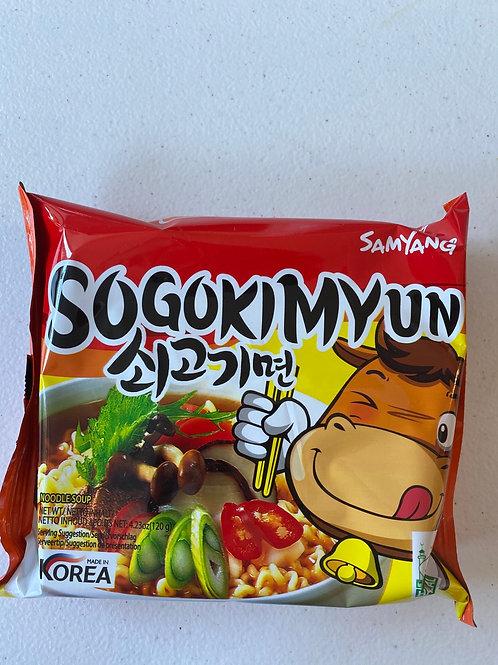 Samyang Sogokimyun Beef Ramen