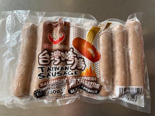 Authentic Taiwan Sausage Black Pepper Flav 430g正点台湾烤肠黑胡椒味