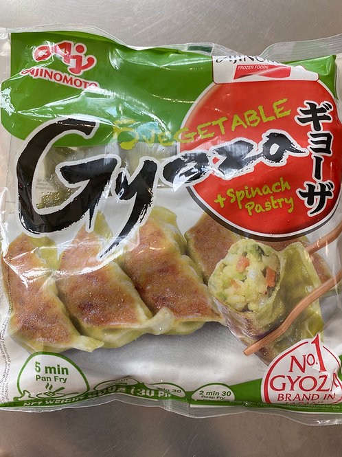 Ajinomoto Japanese 5 Vegetable Gyoza With Spinach Coloured Pastry 600g