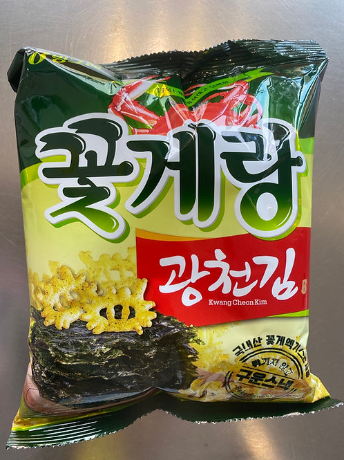 Binggrae Crab Sbaped Chips (Laver)70g