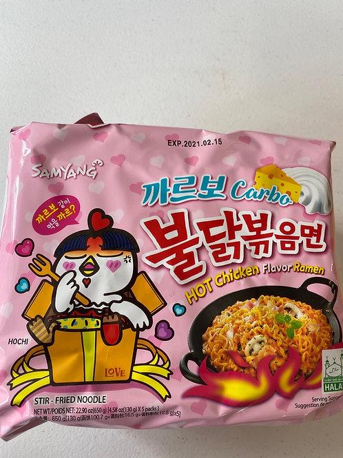 Samyang Hot Chicken Carbo Flav 130gx5pcs