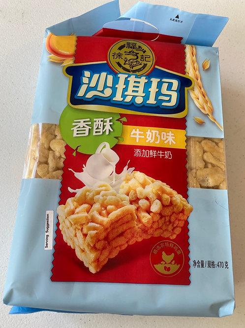 HSU Milk Sachima 徐福記香酥牛奶沙其瑪470g