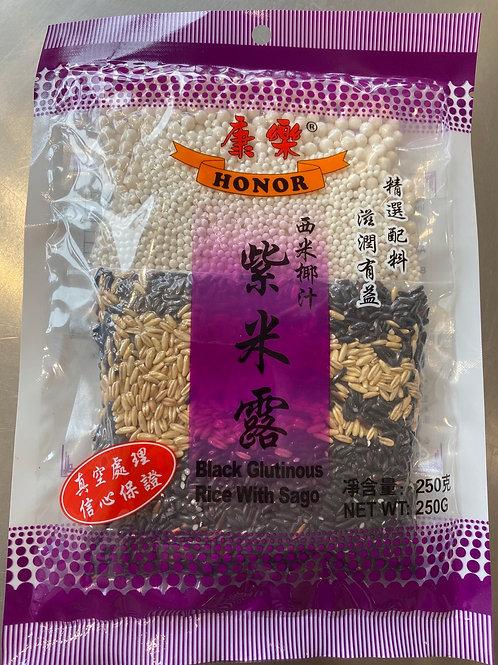 Honor Black Glutinous Rice With Sogo 康乐紫米露250g