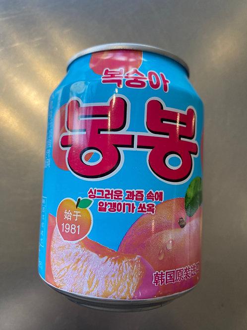 Haitai Peach Bon Bon 238g 韓國蜜桃桃肉果汁