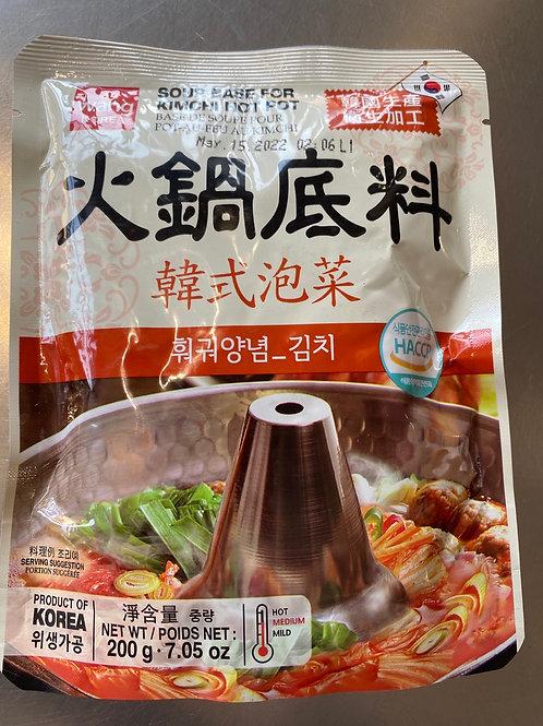 Wang Korea Soup Base For Kimchi Hot Pot 韩式泡菜火锅底料