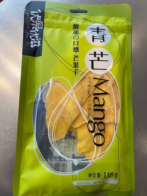 YZ Green Dried Mango 优果优滋青芒 118g