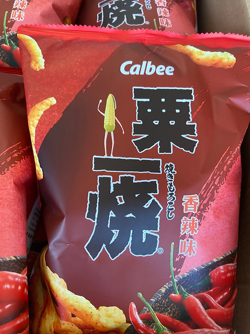 Calbee Grill A Corn Stick Hot and Spicy 粟米燒香辣味