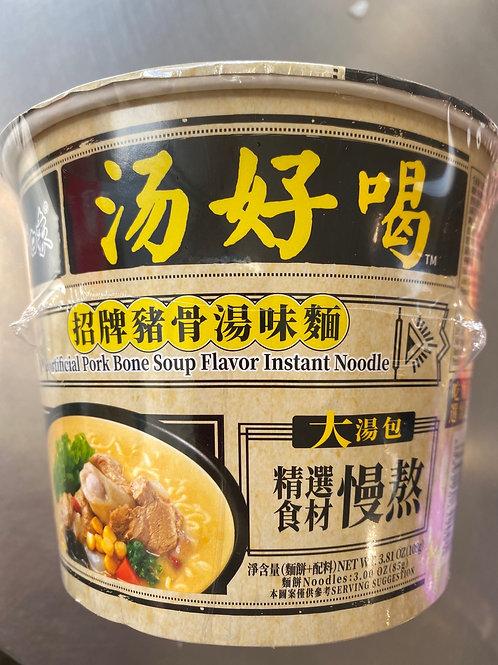 BX Artificial Pork Bone Soup Flav Bowl Noodle 白象招牌猪骨味碗面