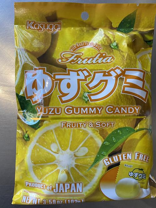 Kasugai Yuzu Gummy Candy 春日井制柚子糖