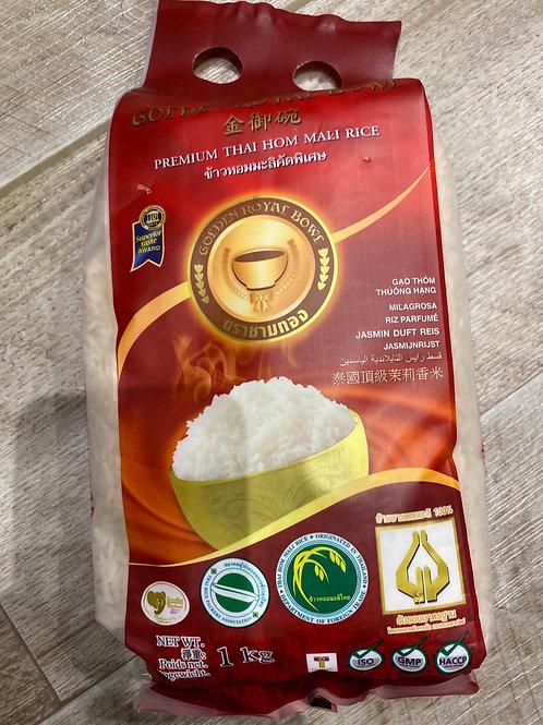 Golden Royal Bowl Thai Jasmine Rice 1kg