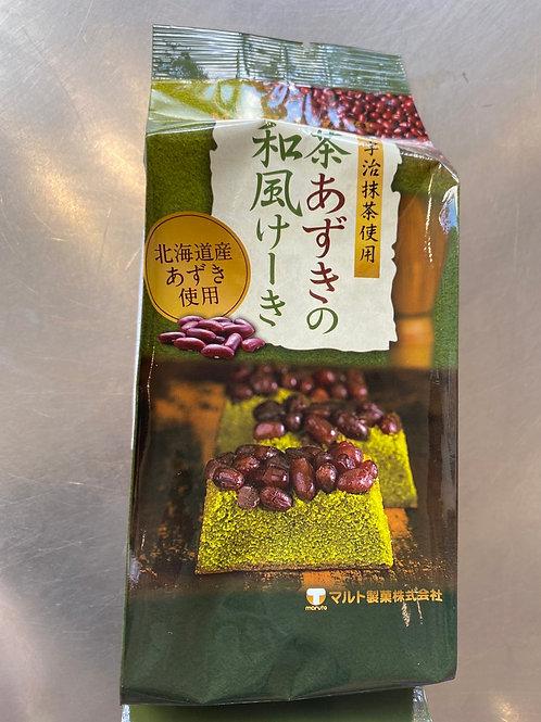 Maruto Matcha Red Bean Cake 120g 宇治抹茶红豆蛋糕120g