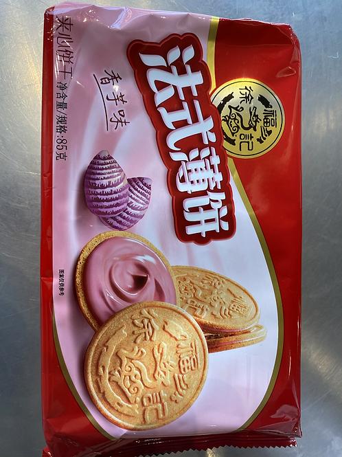XFJ French Biscuits Taro Flav 徐福记法式薄饼
