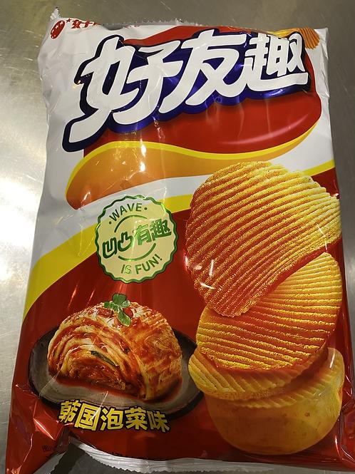HLY Potato Chips Kimchi Flav 好丽友韩国泡菜味75g