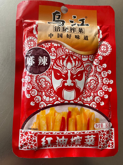 WJ Pickle Spicy Vegetable 乌江麻辣红油榨菜80g