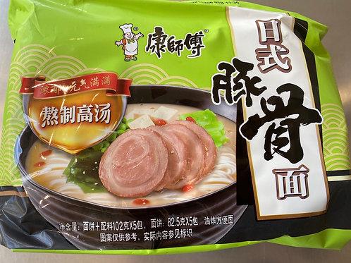 KSF Instant Noodles Artificial Pork Flav Japanese Style 5pks 康师傅经典5入 日式豚骨拉面