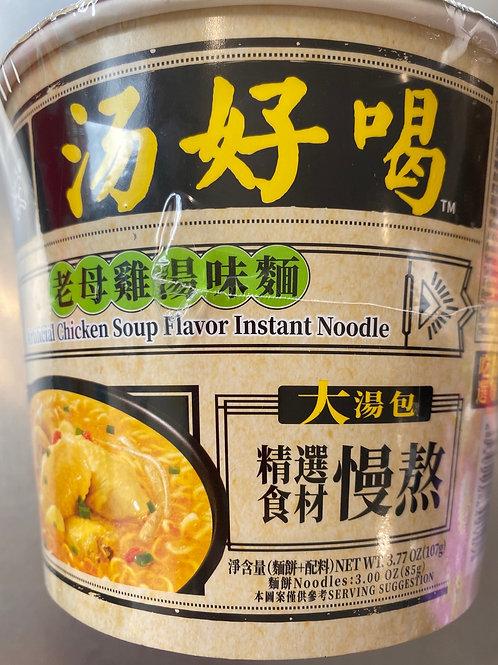 BX Artificial Chicken Soup Flav Instant Noodle Bowl 白象老母鸡汤味面