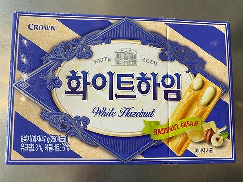 Crown White Hazelnut Waffer Heim 47g