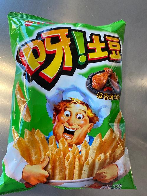 HLY Potato Chips Roast Chicken Flav 好丽友烤鸡味