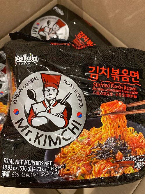 Paldo Kimchi Stir-Fried Noodle 4x134g