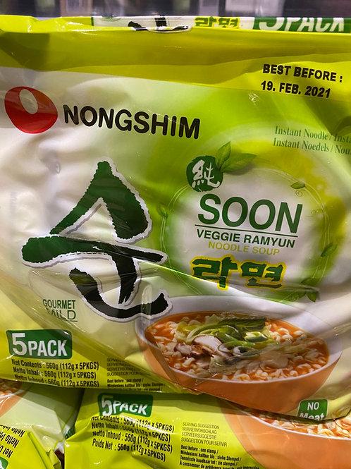 Nongshim Soon Veggie Ramyun 5pcs