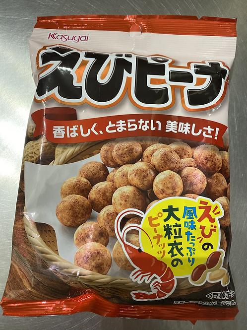 Kasugai Ebi Peana Seasoned Peanut Snack 85g 日本虾味鱼皮花生