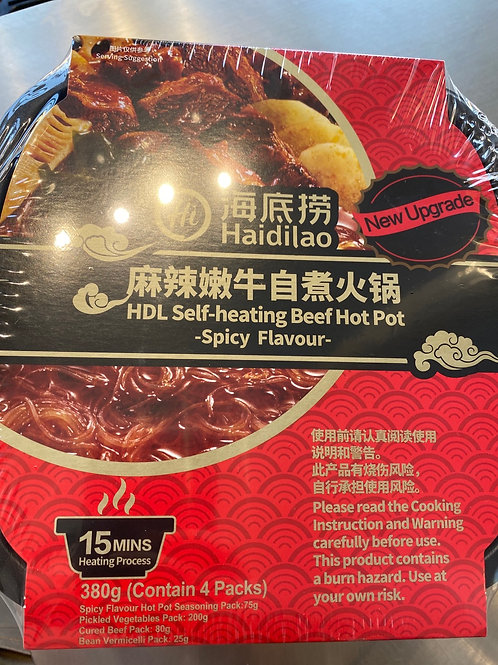 HDL Self-heating Beef Hot Pot Spicy Flav 海底捞麻辣嫩牛自煮火锅