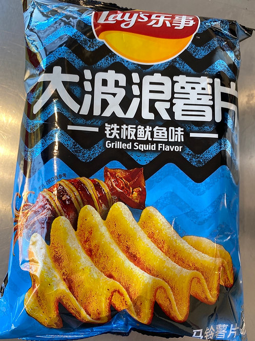 Lay's Grilled Squid Flav 乐事大波浪铁板鱿鱼