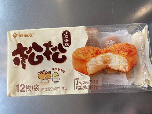 HLY Cake With Chicken Floss 12pks 好丽友松松肉松糕点