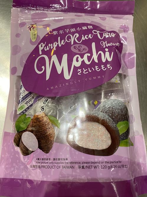 LL Mochi Purple Rice Taro Flav 花之恋语紫米芋头小麻薯120g