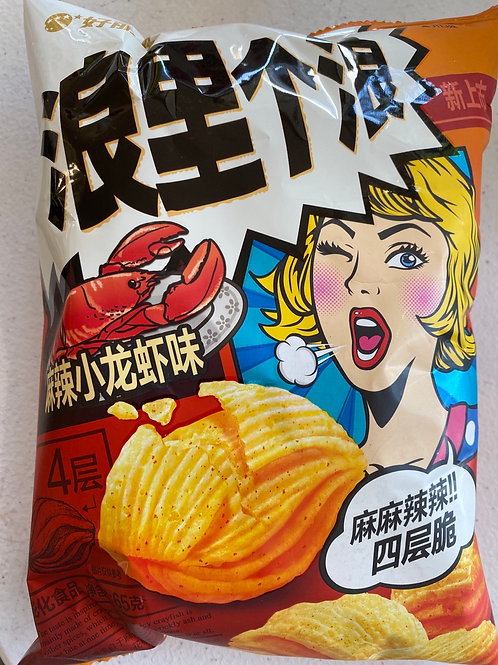 Orion Corn Chips Spicy Crayfish Flav 好麗友浪裏個浪玉米片小龍蝦味