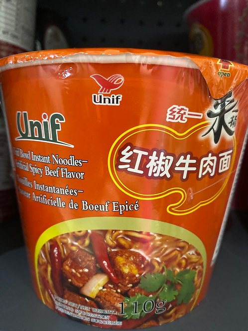 Unif Instant Noodle Spicy Beef 红椒牛肉面