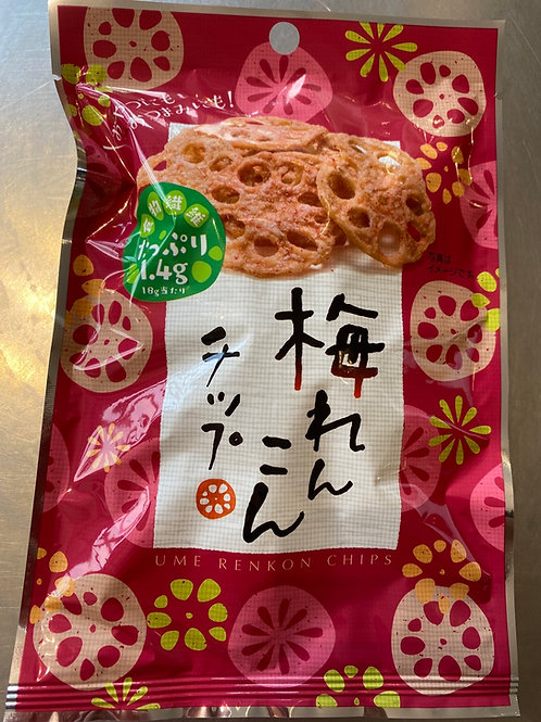 Japanese Ume Plum Flav Lotus Root Crisps