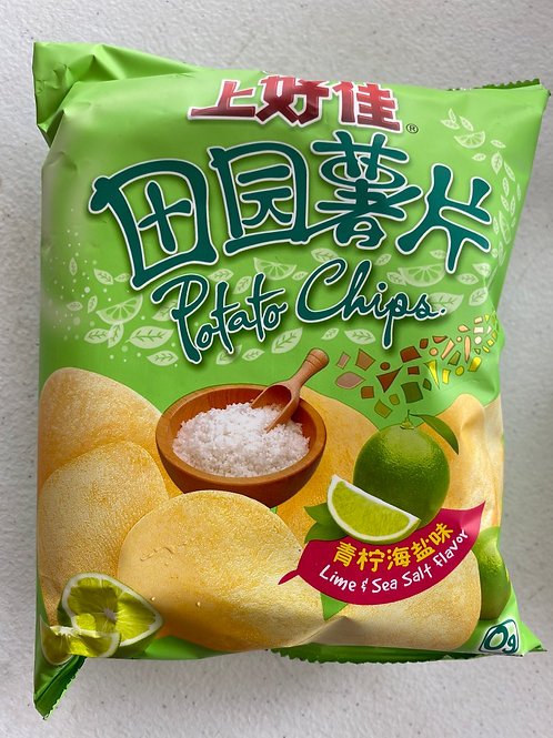 Oishi Potato Chips Lime & Salt Flav 上好佳田園薯片