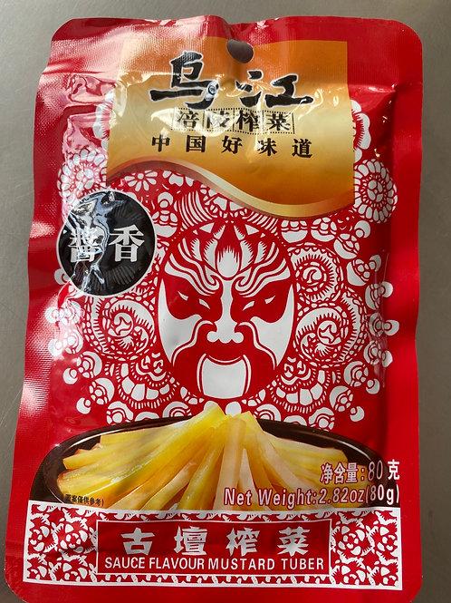 WJ Sauce Flav Mustard Tuber 乌江古坛榨菜酱香80g