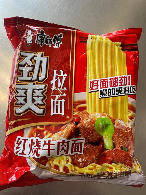 KSF Braised Beef Flav Noodle 康师傅劲爽红烧牛肉面 85g
