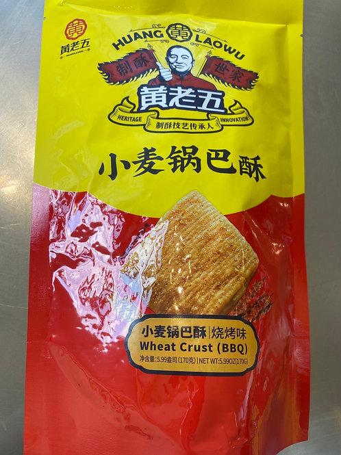 HLW Wheat Crust BBQ 黄老五小麦锅巴烧烤味170g