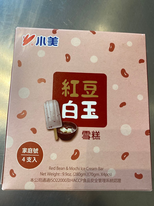 Red Bean & Mochi Ice Cream Bar 小美红豆白玉